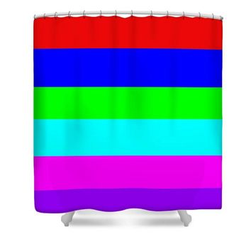 Shower Curtain Stripe Design  Multi Color