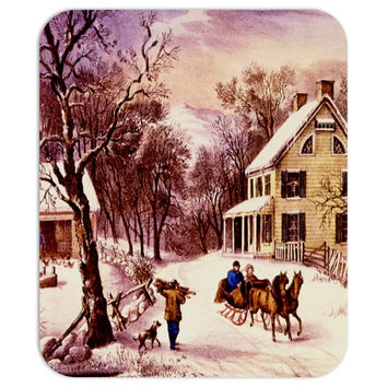 Currier and Ives Mousepad