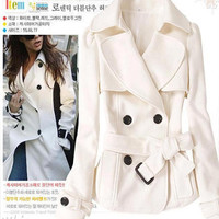Wholesale Women Double-Breasted Belted Coat