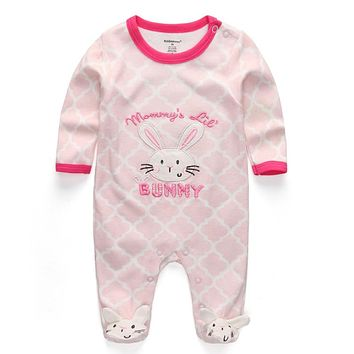 Baby Girl Summer Clothes 2018 New Newborn toddler romper baby cotton bunny clothing long-sleeve Jumpsuits Baby Pajamas