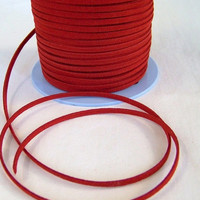 14% OFF SALE Red Faux Leather Suede Cord 20 Feet USA Seller