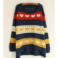 *Free Shipping* Navy Sweater Cardigans One Size from efoxcity