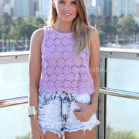 WHEN YOU CALL ME TOP , DRESSES, TOPS, BOTTOMS, JACKETS & JUMPERS, ACCESSORIES, 50% OFF SALE, PRE ORDER, NEW ARRIVALS, PLAYSUIT, COLOUR, GIFT VOUCHER,,LACE,Purple,SLEEVELESS Australia, Queensland, Brisbane