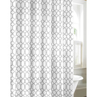 Tommy Bahama Shoretown Trellis Gray Cotton Shower Curtain | Overstock.com Shopping - The Best Deals on Shower Curtains