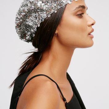Free People Up All Night Sequin Beret