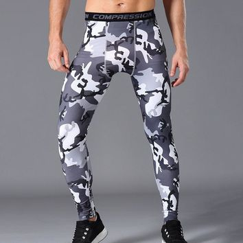 PRO Quick Dry Camouflage Skinny Jogger Pants