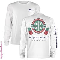 Long Sleeve Simply Southern Pineapple T-shirt in White