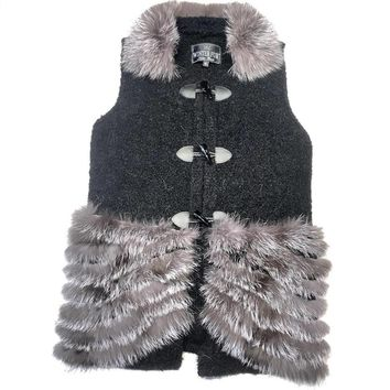 Winter Fur Women's Rabbit/Fox Vest