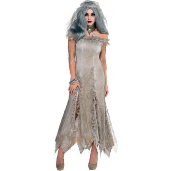 Halloween Scary Ghost Bride Fancy Dress Day of The Dead Holiday Costume Zombie Outfit
