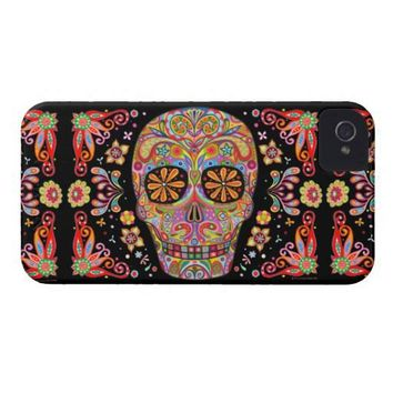 Day of the Dead Art iPhone 4/4S Barely There Case Iphone 4 Covers from Zazzle.com
