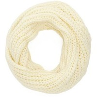 Ivory Chunky Knit Cowl Scarf by Charlotte Russe