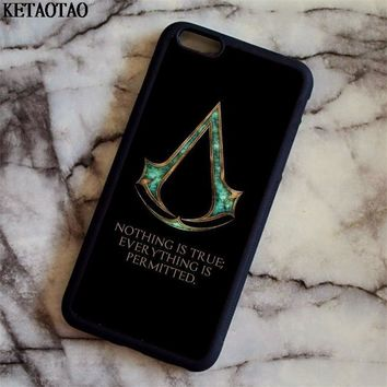 KETAOTAO Assassins Creed Game Movie Phone Cases for iPhone 4S 5C 5S 6 6S 7 8 Plus X for Samsung S8 Case Soft TPU Rubber Silicone