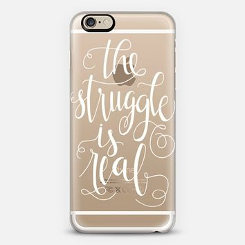 The Struggle is Real (White) iPhone 6 case by Glitter & Bold | Casetify