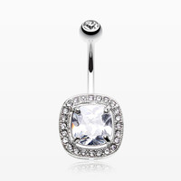 Dazzling Essentia Sparkle Belly Button Ring