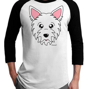 Cute West Highland White Terrier Westie Dog Adult Raglan Shirt by TooLoud