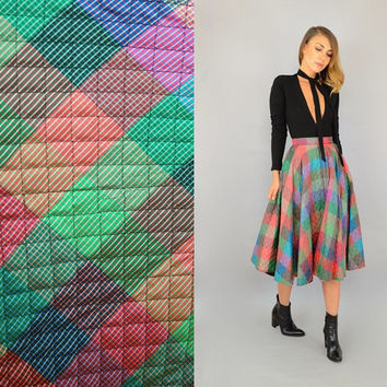 50's Plaid Full Circle Skirt