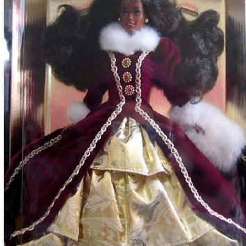 1996 African American Happy Holidays Barbie