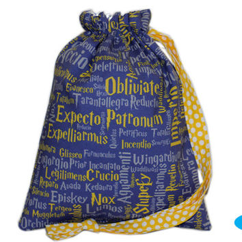 NEW Sock Bag | Knitting Bag | Drawstring Pouch | Project Bag | Harry Potter | Ravenclaw