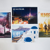 Overwatch Travel Posters - Set of 4