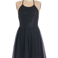 ModCloth LBD Short Length Spaghetti Straps A-line Make Mine a Manhattan Dress