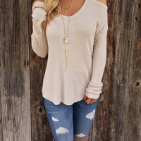 Cold Shoulder Thermal Top