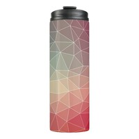 Abstract Geometric Triangulate Design Thermal Tumbler