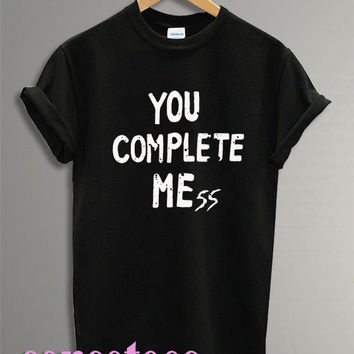 you complete me shirt 5 second of summer shirt tshirt t-shirt tee shirt printed black and white color unisex size