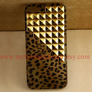 studded Iphone 5 Case leopard Iphone 5 Case by MyTeenageDream