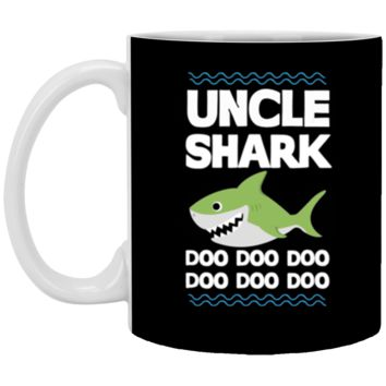 Uncle Shark Doo Doo Mommy Auntie Daddy Baby Tee Mug Coffee Mug 11 oz Mug