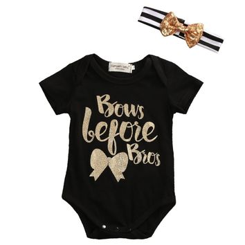 Bows Before Bros Romper
