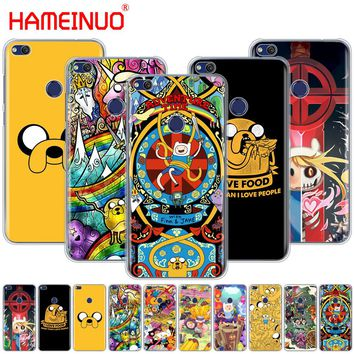 HAMEINUO adventure time Cover phone Case for huawei Ascend P7 P8 P9 P10 P20 lite plus pro G9 G8 G7 2017