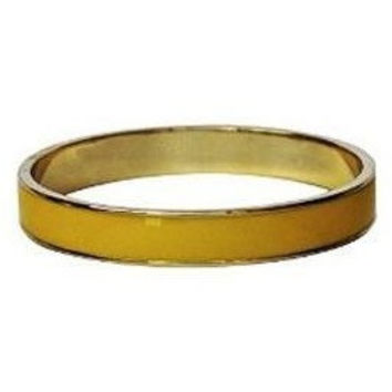 Enamel Bangle Bracelet 16k Gold Plated Yellow