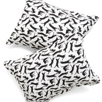 ModCloth Cats Yours, Mine, and Noir's Pillow Sham Set