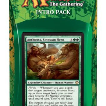 Magic the Gathering (MTG) Theros Intro Pack - Anthousa's Army Theme Deck (Includes 2 Booster Packs) Green (Anthousa, Setessan Hero)