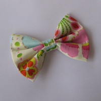 Fabric hair bow, girls hair clip, Womens hair accessories, preppy spring bows, big boutique hairclips, pinup trendy bridesmaid gift