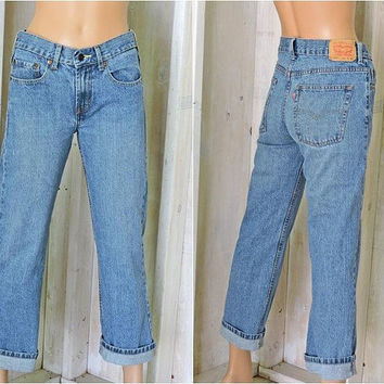 Vintage Levis 550 jeans 28 X 28 size 5 / 6 / LEVI'S  100% cotton / high waisted Levis / straight leg / relaxed fit / medium wash