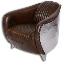 Bomber Pilot Armchair | Tobacco Brown