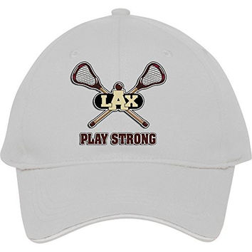 Hot Newmale/female Lacrosse Play Strong White Adjustable Baseball Snapback Cap /hats Kelvigibbs Cotton