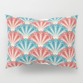 Peacock Feather Pattern Pillow Sham by Smyrna