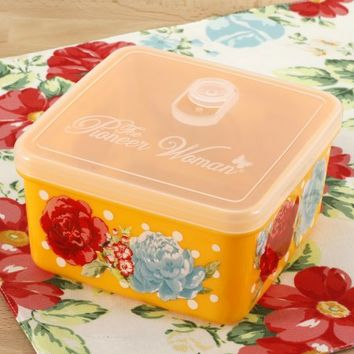The Pioneer Woman Blossom Jubilee 43oz Square Storage Container - Walmart.com