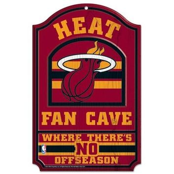 Miami Heat No Offseason 11x17 Wood Fan Sign