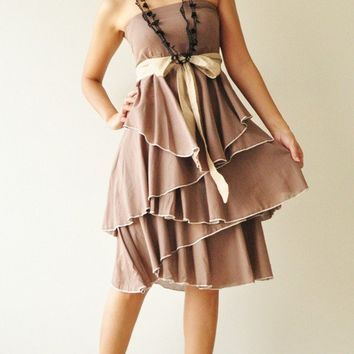 Waft ... Brown Cocktail Dress 2 Sizes Available