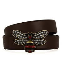 2017 GUCCI FASHIONABLE BEE BELTS MEN'S AND WOMENS BELT