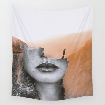 Cliff Wall Tapestry by dada22