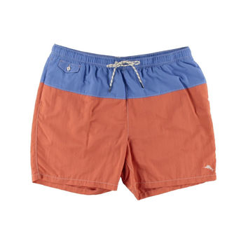 Tommy Bahama Mens Big & Tall Naples Block Party Colorblock Lined Swim Trunks