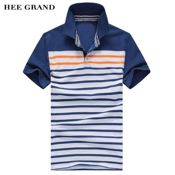 Summer Style Men's Polo Shirt Fashion Striped Design Tops Blue&Red 2 Colors High Quality MTP320