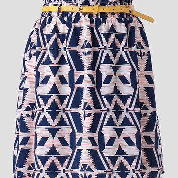 Road Trip Printed Skirt