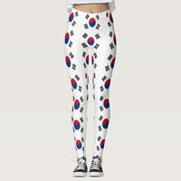 Leggings with flag of South Korea
