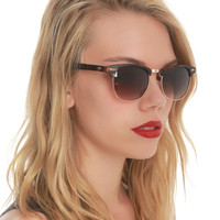 Tortoise Wire Rim Sunglasses