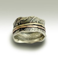 Wedding band  Sterling silver meditation ring with by artisanlook